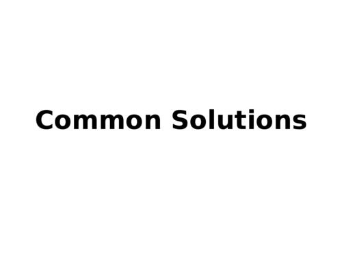 Common Solution