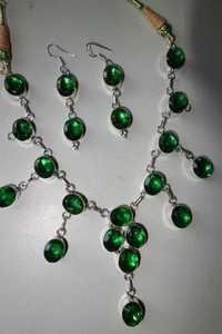 Emerald Necklace Earring