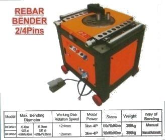 REBAR BENDER 2/4 PINS