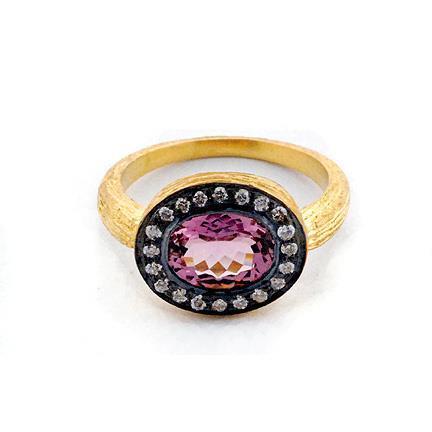 Amethyst & Gemstone Victorian Ring