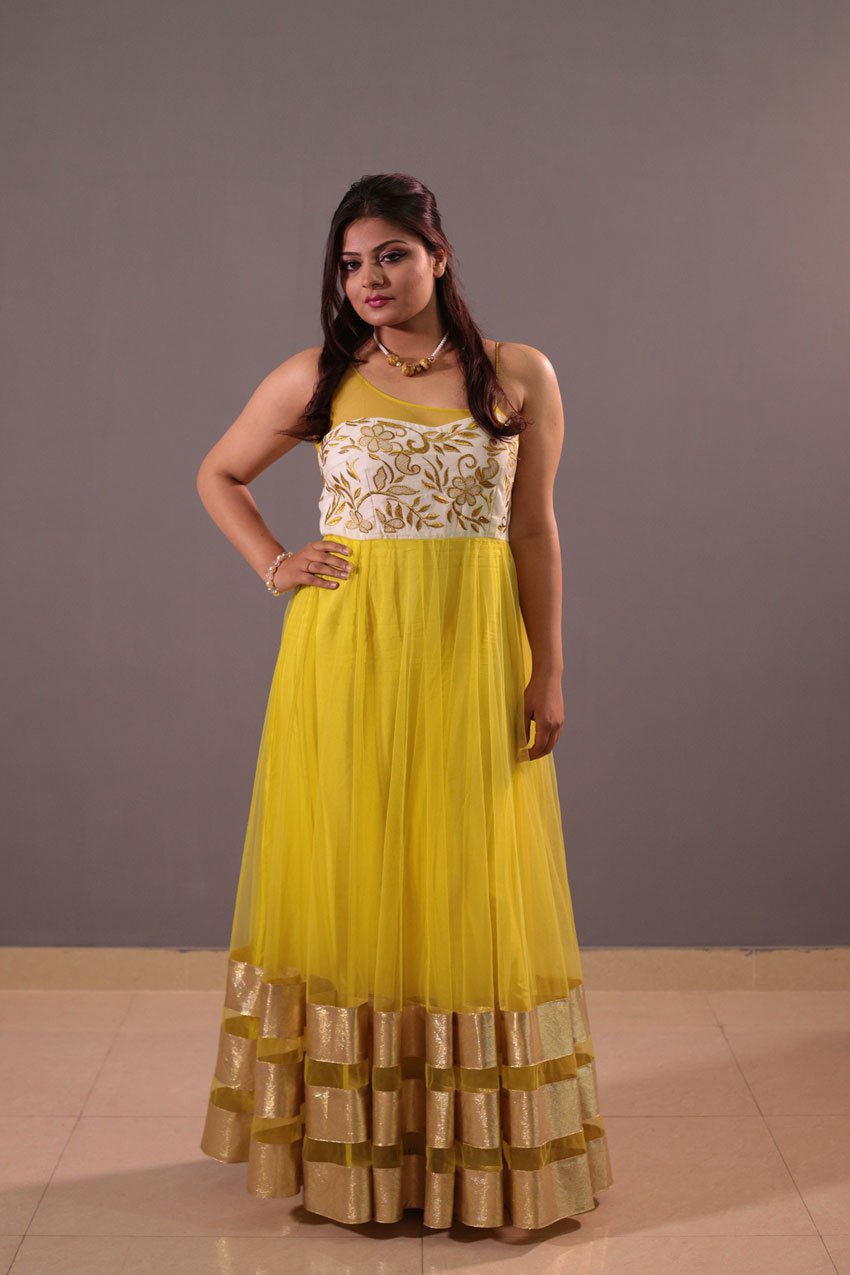 Indo western wear gown.