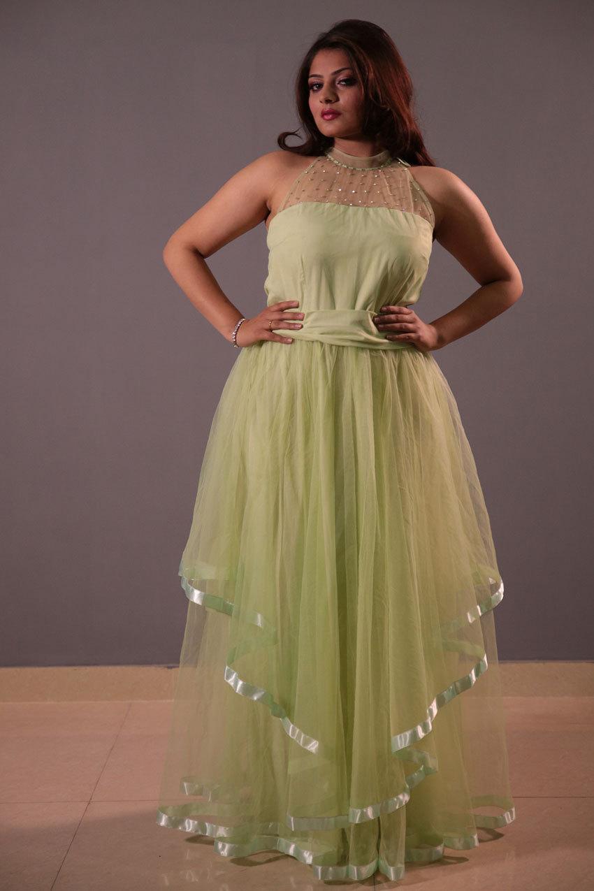 Evening wear net dress