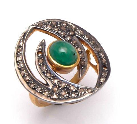Emerald & Gemstone Victorian Ring