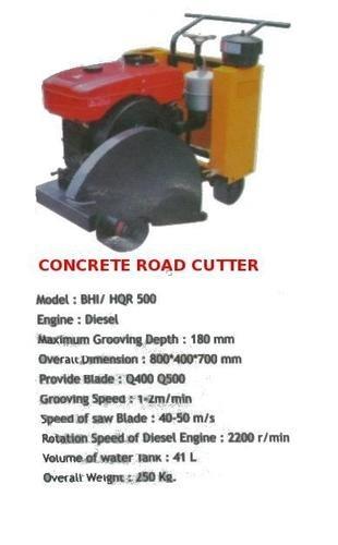 CONCRETE ROAD CUTTER