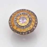 Amethyst & Gemstone Victorian Ring