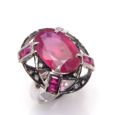 Ruby & Gemstone Victorian Ring