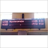 Railway Platform Display Board