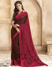 Multicolor Crape Silk Saree Printed Saree