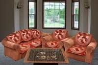 RUST CHENILLE SOFA COVER