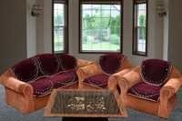 PLAIN WINE CHENILLE SOFA COVER