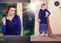 NEW DESIGNER BLUE STRAIGHT SUIT