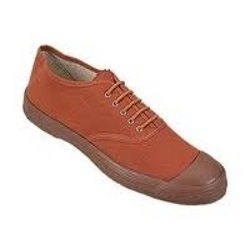 Shoes Canvas Rubber Sole Brown / White (PT Shoe)