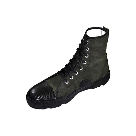 Polyester Blended Duck Ankle Boot Rubber Sole OG