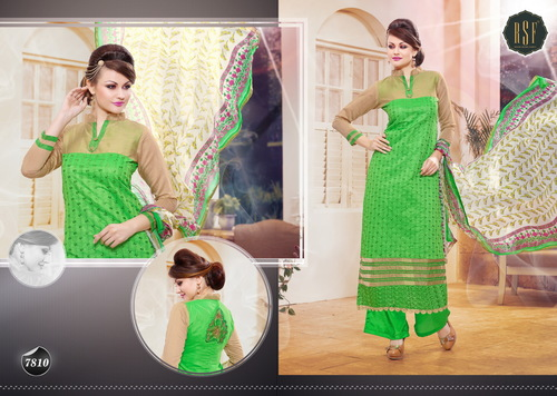 NEW DESIGNER GREEN STRAIGHT SUIT
