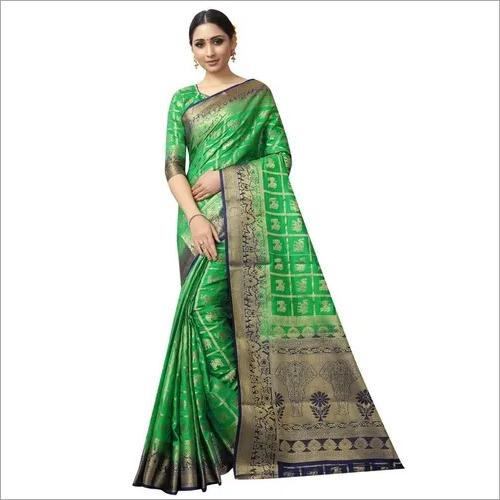 Designer wedding wear patola style saree