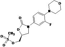 Linezolid Impurity- [(5R)-3-(3-fluoro-4-morpholin-4-ylphenyl)-2-oxo-1,3-oxazolidin-5-yl]methyl