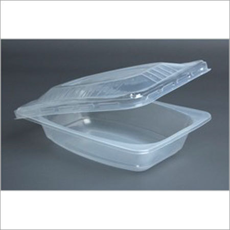 Reectangular Container White Lid