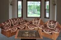 BHAVYA DARK CHOCOLATY CHENILLE SOFA COVER