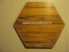 Hexagonal Teak Wood Tile