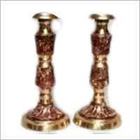 Brass Designer Candle Stand