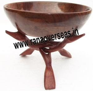 Wooden Bowl Stand