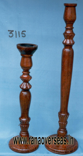 WOODEN CANDLE STANDS