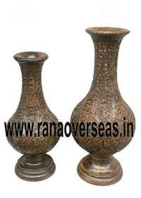 WOODEN FLOWER VASES
