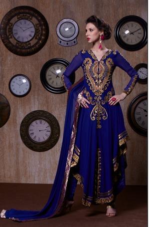 Blue New Georgette Designer Salwar kameez
