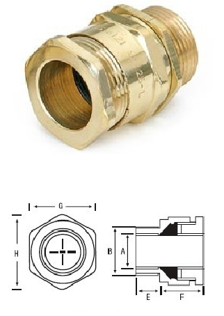 Brass A1 Cable Gland