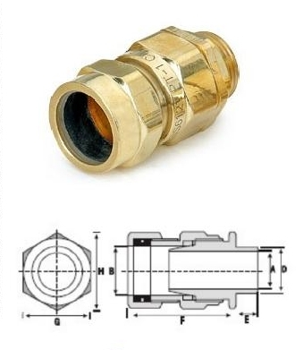 CW Brass Gland 5 Parts
