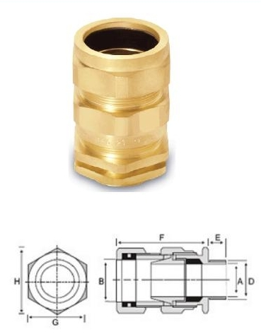 EIW Brass Cable Gland