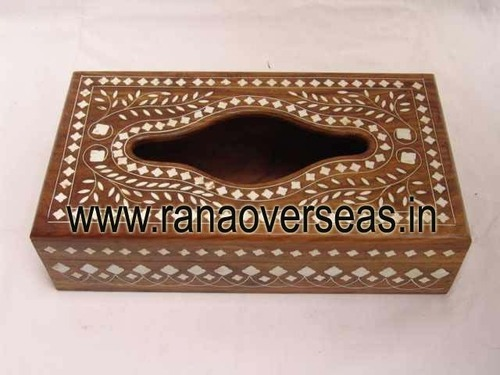 Wooden Tissue Box