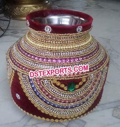 Indian Wedding Decorated Hand Made Pots/Matkas