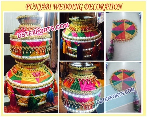 Wedding Punjabi Decoration Matka/Pots/Jagos