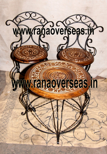 WOODEN CHAIR TABLE SETS