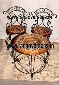 Wooden Chair Table Set