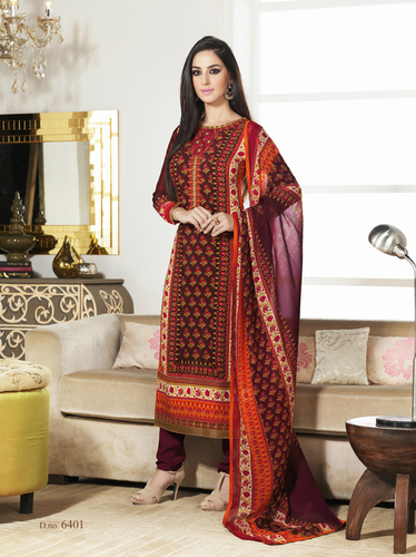 Double Color Crape Unstitched Salwar Kameez