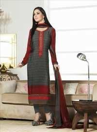 Multicolored New Crape Unstitched Salwar Kameez