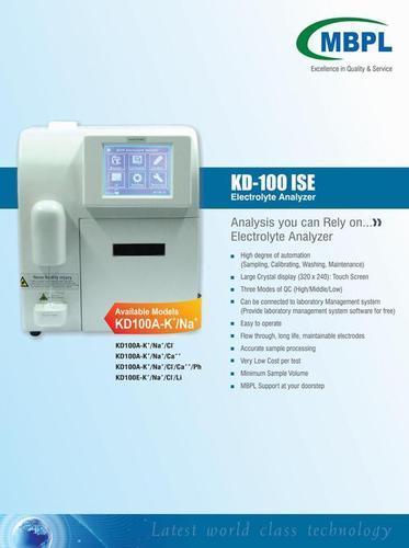 Electrolyte Analyzer Model KD-100