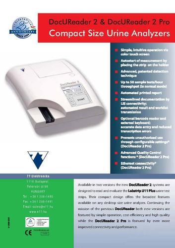 Urine Analyzer Model DOCU READER 2
