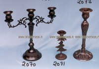 brasscandlestands2070-2071-2072 in copper antique finish