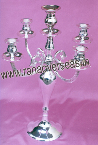 SILVER PLATED CANDLE STANDS