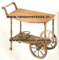Wooden Serving Trolly1