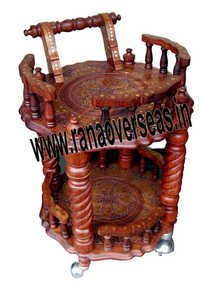 Wooden Serving Trolly 3