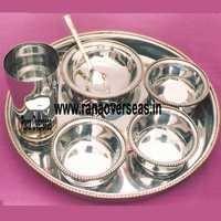 steel brass thali set 2