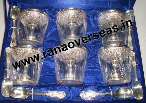 silverplatedicecreambowlset3