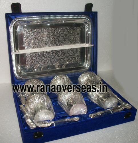 silverplatedicecreambowlset4