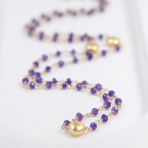 Amethyst Gemstone Chain Necklace