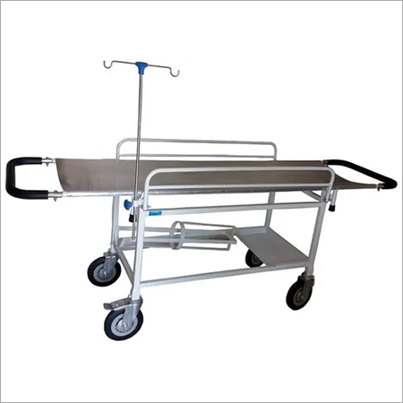 Stretcher  Trolley with (Aluminium Top)