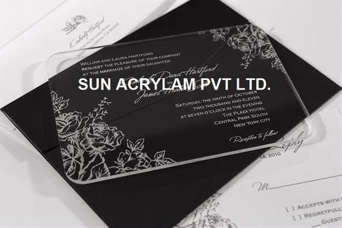 Acrylic wedding invitation cards